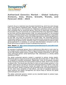 Authorized Generics Market Research Report and Forecast up to 2024