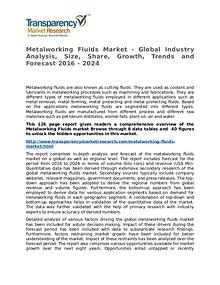 Metalworking Fluids Market Research Report and Forecast up to 2024