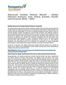 Advanced Combat Helmet Market Research Report and Forecast up to 2024