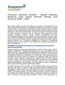 Pressure Injectors Market Research Report and Forecast up to 2024