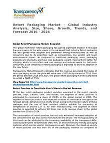 Retort Packaging Market Research Report and Forecast up to 2024