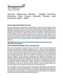 Vaccine Adjuvants Market Research Report and Forecast up to 2024