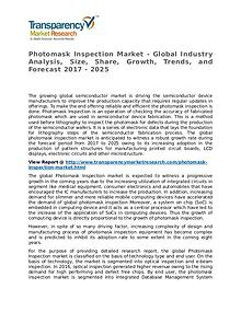 Photomask Inspection Market Research Report and Forecast up to 2025