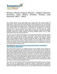 Military Marine Engine Market 2017 Share, Trend and Forecast