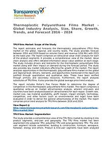 Thermoplastic Polyurethane Films Market 2016 Share and Forecast
