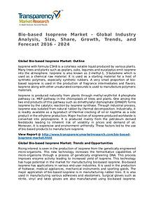Bio-based Isoprene Market 2016 Share,Trend,Segmentation and Forecast