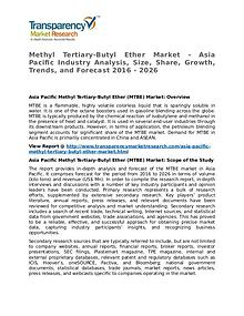 Methyl Tertiary-Butyl Ether Market 2016