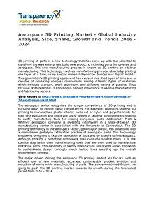 Aerospace 3D Printing Market 2016 Share, Trend and Forecast