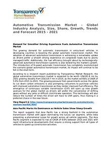 Automotive Transmission Market 2015 Share,Trend and Forecast