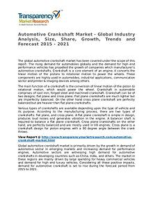Automotive Crankshaft Market 2015 Share,Trend and Forecast