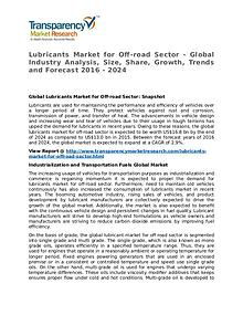 Lubricants Market 2016 Share, Trend, Segmentation and Forecast
