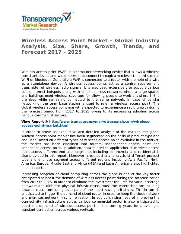 Wireless Access Point Market 2017 Wireless Access Point Market