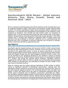Epichlorohydrin Market 2015 Share, Trend, Segmentation and Forecast