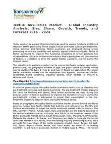 Textile Auxiliaries Market 2016