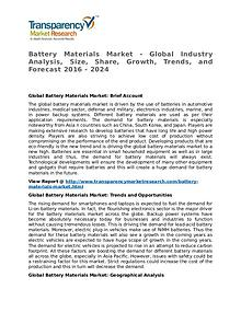 Battery Materials Market SWOT Analysis Of Top Key Player Forecasts
