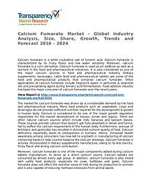 Calcium Fumarate Market SWOT Analysis Of Top Key Player Forecasts