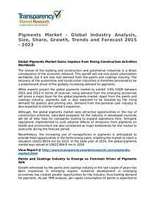 Pigments Market 2015 Share, Trend, Segmentation and Forecast to 2023