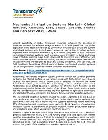 Mechanized Irrigation Systems Market 2016