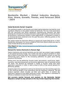 Bentonite Market 2016 Share, Trend, Segmentation and Forecast to 2024