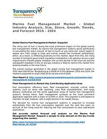 Marine Fuel Management Market 2016 Share, Trend and Forecast