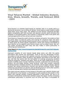 Vinyl Toluene Market SWOT Analysis Of Top Key Player Forecasts