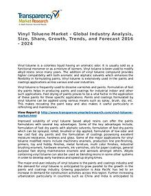 Vinyl Toluene Market SWOT Analysis Of Top Key Player Forecasts