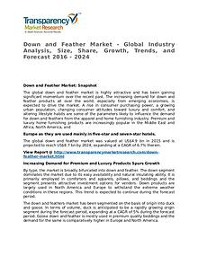 Down and Feather Market 2016 Share, Trend, Segmentation and Forecast