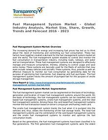 Fuel Management System Market 2016 Share, Trend and Forecast