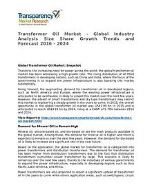 Transformer Oil Market 2016 Share, Trend, Segmentation and Forecast