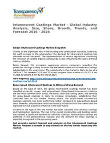 Intumescent Coatings Market 2016 Share, Trend and Forecast