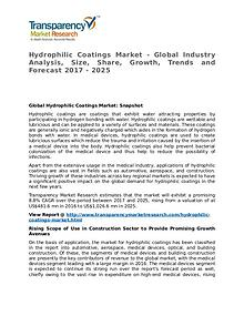 Hydrophilic Coatings Market 2017 Share, Trend and Forecast