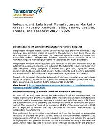 Independent Lubricant Manufacturers Market 2017