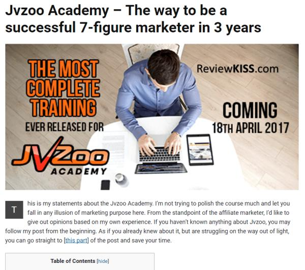 Jvzoo Academy Review and BONUS LIBRARY for you!
