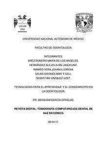 Tomografía Computarizada Dental con Haz en Cónico
