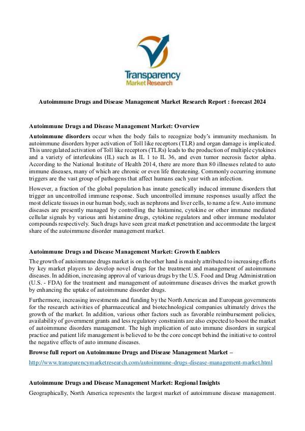 Autoimmune Drugs and Disease Management Market Autoimmune Drugs and Disease Management Market
