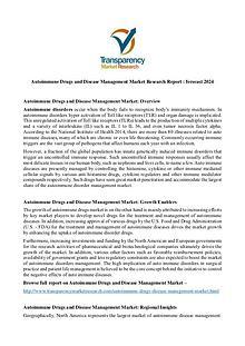 Autoimmune Drugs and Disease Management Market