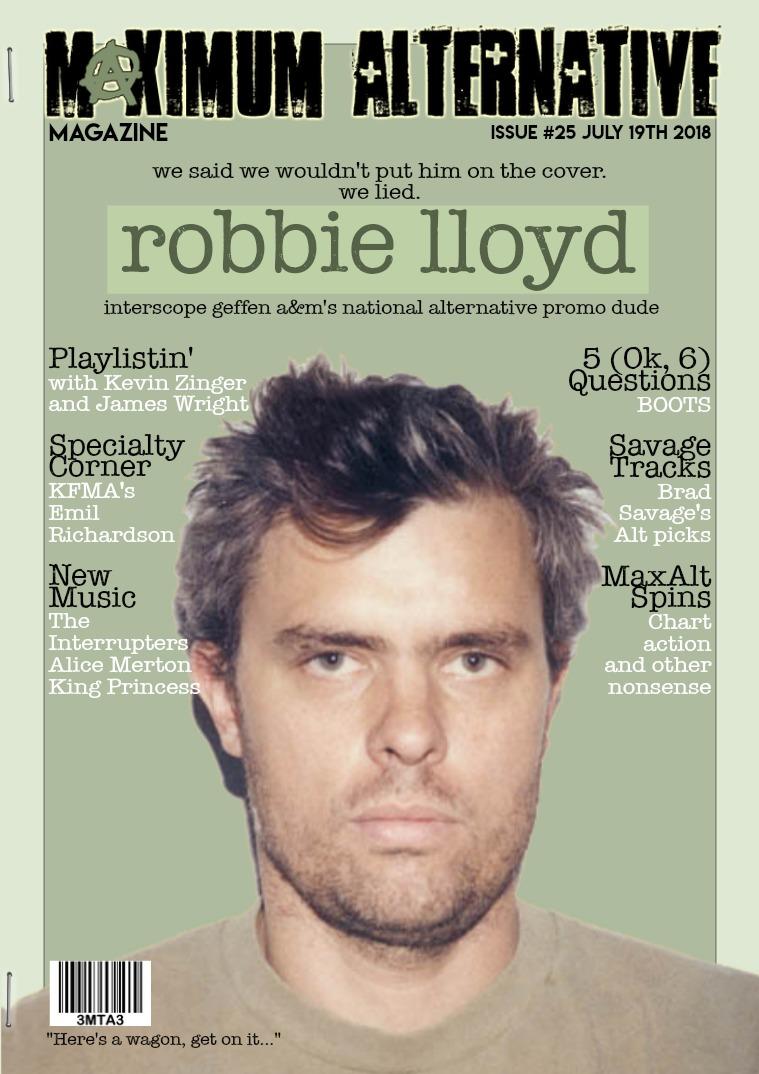 Maximum Alternative Issue 25 With Robbie Lloyd