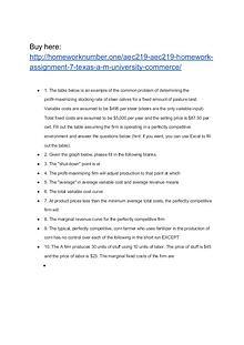 AEC219 AEC219 Homework Assignment 7