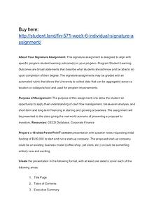 FIN 571 Week 6 Individual Signature Assignment