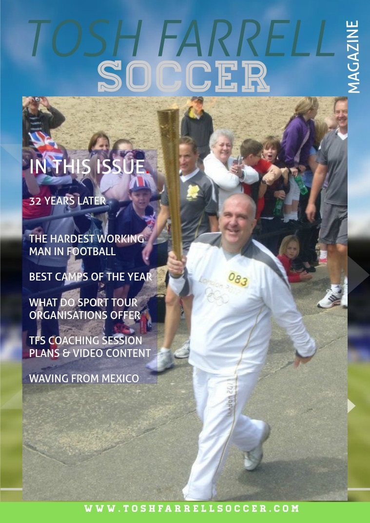 Tosh Farrell Soccer Magazine Jan 2020