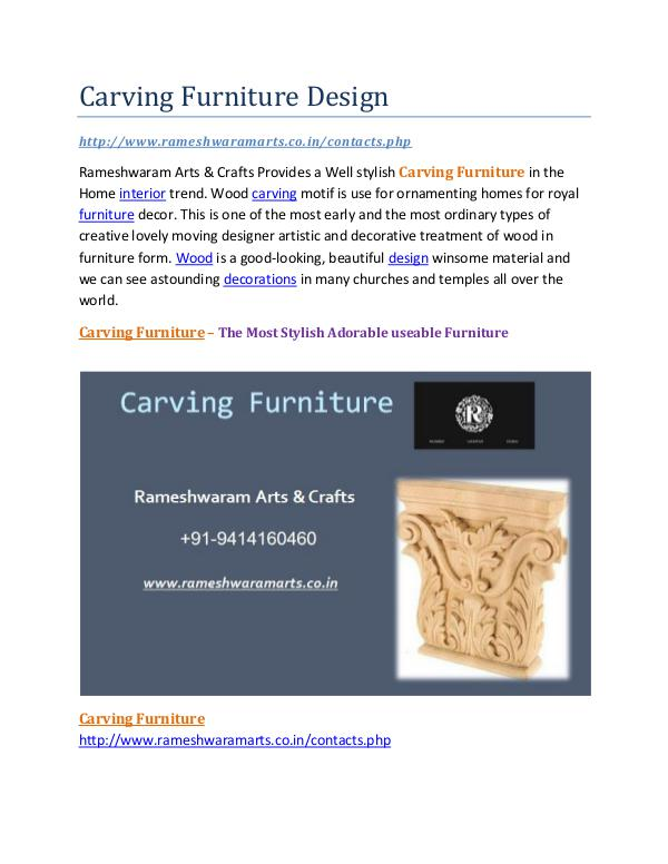 Carving Furniture Design