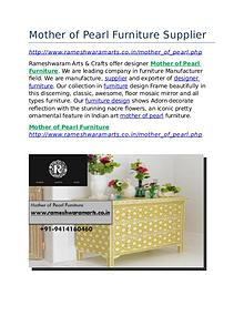 Mother of Pearl Furniture Supplier