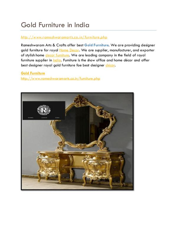 Gold Furniture Store Gold Furniture in India