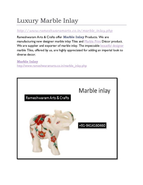 Marble Inlay Luxury Marble Inlay