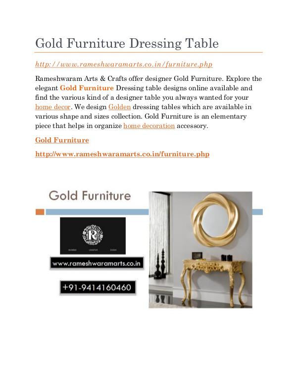 Gold Furniture Store Gold Furniture Dressing Table