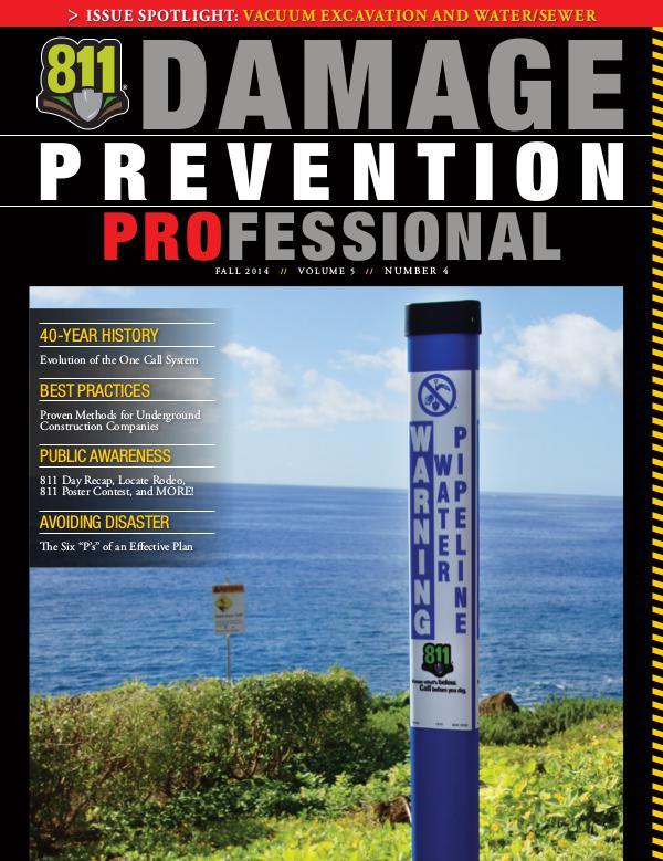 Damage Prevention Professional 2014 Q4