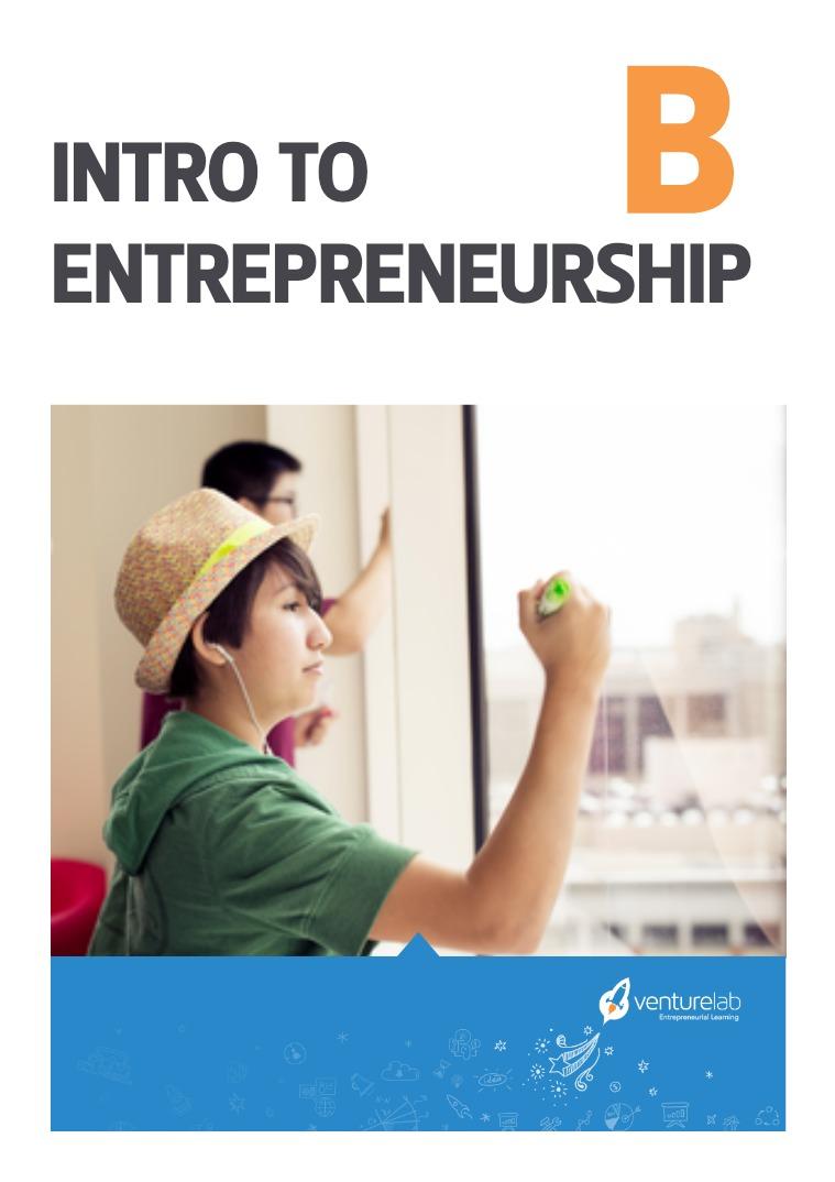 VentureLab: Grades 9-12 Intro to Entrepreneurship B