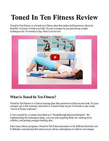 Toned In Ten PDF / eBook :