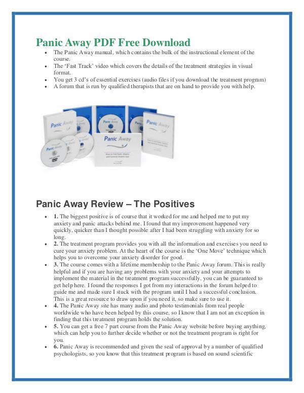Panic Away Pdf Ebook Book Review Free Download Panic Away