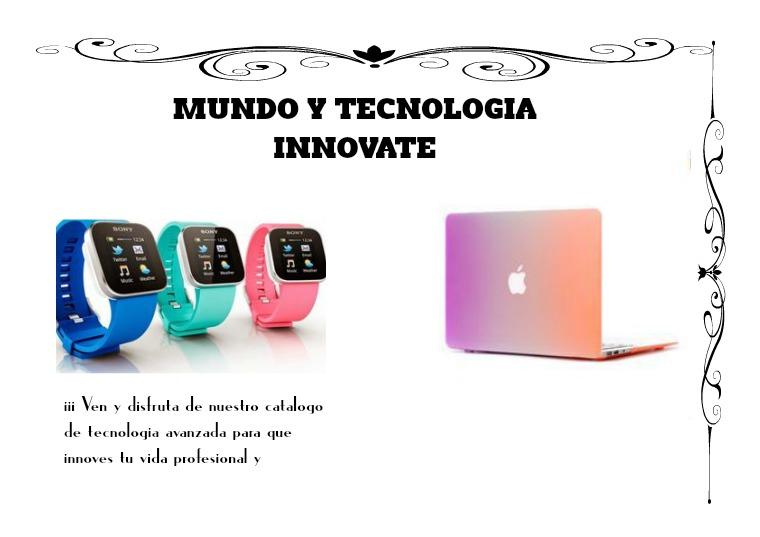 MUNDO Y TECNOLOGÍA INNOVATE mundo y tecnología innovate